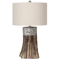 Bethel International JTL92KT-SLW Jtl92 Series 27 inch 100 watt Wood Table Lamp Portable Light