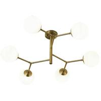 Bethel International KJ02 Canada 6 Light 35 inch Antique Brass Chandelier Ceiling Light