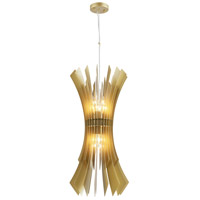 Bethel International KJ05C16G Kj Series 8 Light 15 inch Gold Pendant Ceiling Light
