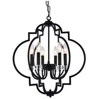 Bethel International LA13C20BLK Canada 6 Light 20 inch Black Pendant Ceiling Light