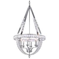 Bethel International Series 6 Light 24 inch Chrome Chandelier Ceiling Light