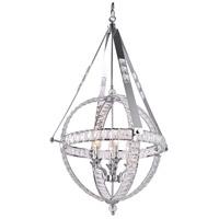 Bethel International Series 6 Light 25 inch Chrome Chandelier Ceiling Light