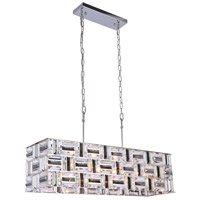 Bethel International LA20 Canada 6 Light 10 inch Chrome Chandelier Ceiling Light