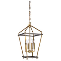 Bethel International LA23C12CO Canada 5 Light 12 inch Antique Brass/Black Chandelier Ceiling Light
