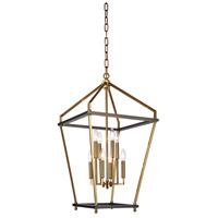 Bethel International LA24C18CO Canada 8 Light 18 inch Antique Brass/Black Chandelier Ceiling Light