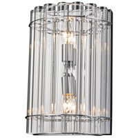 Bethel International LX81W9CH Lx Series 2 Light 9 inch Chrome Wall Sconce Wall Light