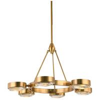 Bethel International MSF02C29BR Msf Series 6 Light 30 inch Brass Chandelier Ceiling Light