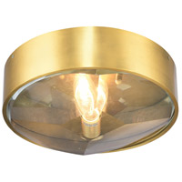 Bethel International MSF04C13BR Msf Series 1 Light 14 inch Brass Flush Mount Ceiling Light