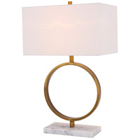 Bethel International MTA01 Mta Series 11 inch 100 watt Gold Table Lamp Portable Light