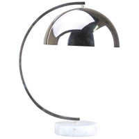 Bethel International MTL04PQ-CH+SQ Mtl04 Series 20 inch 100 watt Chrome Table Lamp Portable Light