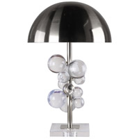 Bethel International MTL10PQ-CH+CL Mtl10 Series 22 inch 100 watt Chrome Table Lamp Portable Light