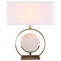 Bethel International MTL14PQ-GD Mtl14 Series 22 inch 100 watt Gold and White Table Lamp Portable Light