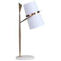 Bethel International Gold Marble Table Lamps