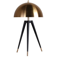 Bethel International MTL17PQ-GD Mtl17 Series 25 inch 100 watt Black and Gold Table Lamp Portable Light