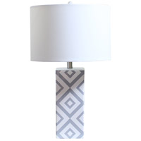 Bethel International MTL33PQ-SN Canada 26 inch 100.00 watt White/Grey Table Lamp Portable Light