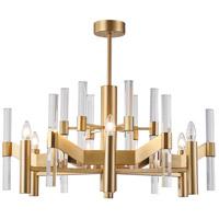 Bethel International MU02 Canada 6 Light 32 inch Antique Brass Chandelier Ceiling Light