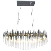 Bethel International MU22CH Mu22 Series LED 13 inch Chrome Chandelier Ceiling Light