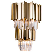 Bethel International MU24-2 Mu24 Series 3 Light 7 inch Gold Wall Sconce Wall Light