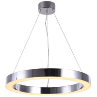 Bethel International MU30BCH Mu30 Series LED 26 inch Chrome Pendant Ceiling Light