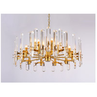 Bethel International MU56C25G Mu Series 12 Light 26 inch Gold Chandelier Ceiling Light