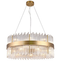 Bethel International Series 18 Light 31 inch Gold Chandelier Ceiling Light