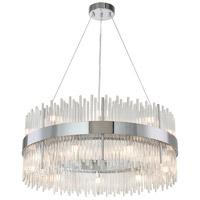 Bethel International MU57C31CH Canada LED 31 inch Chrome Chandelier Ceiling Light