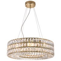 Bethel International Series 8 Light 24 inch Gold Chandelier Ceiling Light