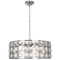 Bethel International MU70CH Mu Series 8 Light 26 inch Chrome Chandelier Ceiling Light