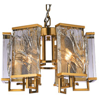 Bethel International MU74 Mu Series 6 Light 22 inch Brass Chandelier Ceiling Light