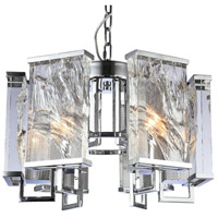 Bethel International MU74CH Mu Series 6 Light 22 inch Chrome Chandelier Ceiling Light
