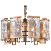 Bethel International MU75 Mu Series 9 Light 26 inch Brass Chandelier Ceiling Light