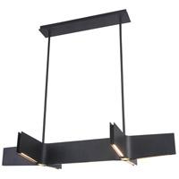 Bethel International MV20 Mv Series LED 48 inch Sand Black Linear Pendant Ceiling Light