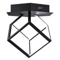 Bethel International OC01F8BLK Canada LED 8 inch Black LED Flush Mount Ceiling Light