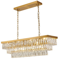Bethel International OC33C38G Canada 12 Light 12 inch Gold Chandelier Ceiling Light