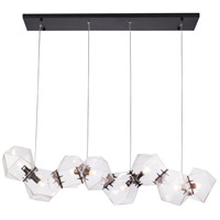 Bethel International SR12CBLK Sr12 Series 8 Light 12 inch Black Pendant Ceiling Light