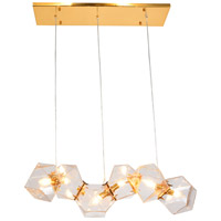 Bethel International SR17CL Sr Series 6 Light 39 inch Gold Linear Pendant Ceiling Light