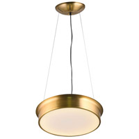 Bethel International Series LED 16 inch Gold Pendant Ceiling Light