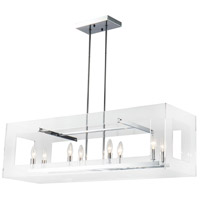 Bethel International TD18CH Td Series 8 Light 39 inch Chrome Linear Pendant Ceiling Light