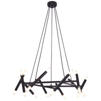 Bethel International TM02BLK Tm Series 20 Light 31 inch Matte Black Chandelier Ceiling Light
