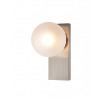 Shiny Nickel Glass Wall Sconces
