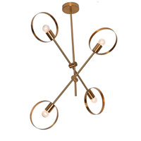 Bethel International Brushed Bronze Metal Chandeliers