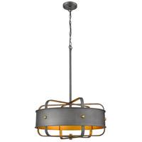 Bethel International YS1641-5P-GD Canada 5 Light 20 inch Charcoal Black Chandelier Ceiling Light