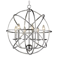 Bethel International YS167CH Ys167 Series 6 Light 22 inch Chrome Pendant Ceiling Light