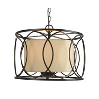 YS Series 16 inch Pendant Ceiling Light, Bronze Frame