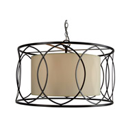 YS Series 22 inch Pendant Ceiling Light, Bronze Frame