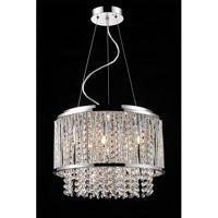 Bethel International YS579-6P Canada 6 Light 16 inch Chrome Chandelier Ceiling Light