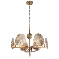 Bethel International ZL19 Zl Series 6 Light 27 inch Gold Pendant Ceiling Light