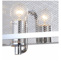 Bethel International ZP122 Zp12 Series 3 Light 6 inch Chrome Wall Sconce Wall Light