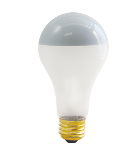 Bulbrite 100A21F/SB Half Chrome Incandescent A21 E26 100 watt 120V 2700K Bulb photo