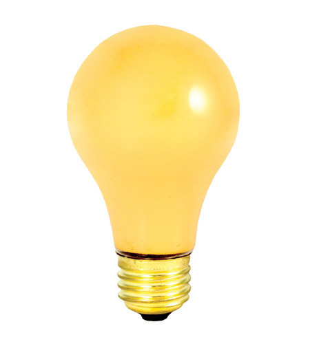 Bulbrite 100a Yb Bug Lights Incandescent A19 E26 100 Watt 130v 2700k Bulb